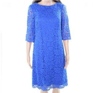 Ralph Lauren Dress Sheath Floral Lace Sleeves